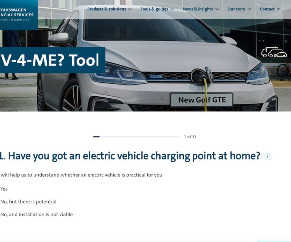 VWFS | Fleet 'EV-4-ME?' tool guides drivers on ULEV choices