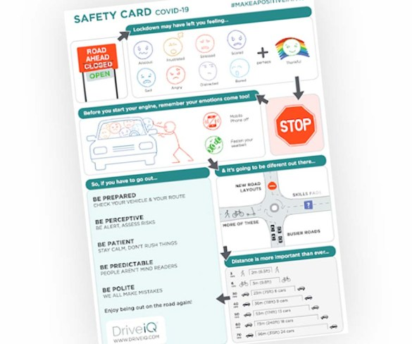 Drive iQ publishes COVID-19 safety card