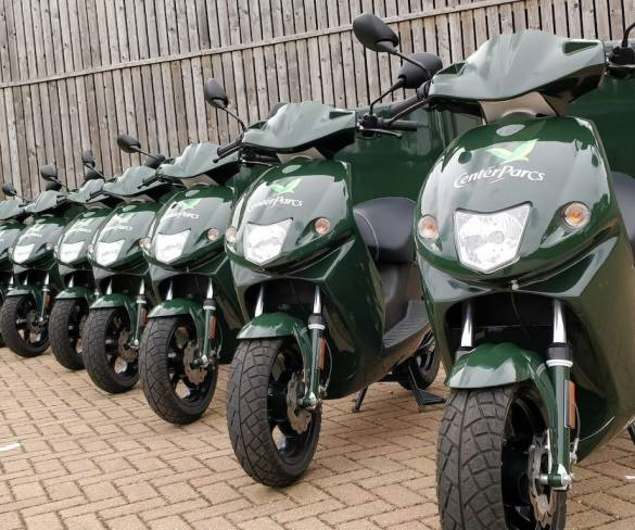 Center Parcs deploys electric mopeds for eco-friendly food deliveries