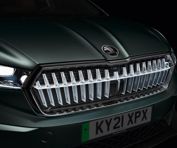 Škoda Enyaq iV electric SUV gets striking LED grille option