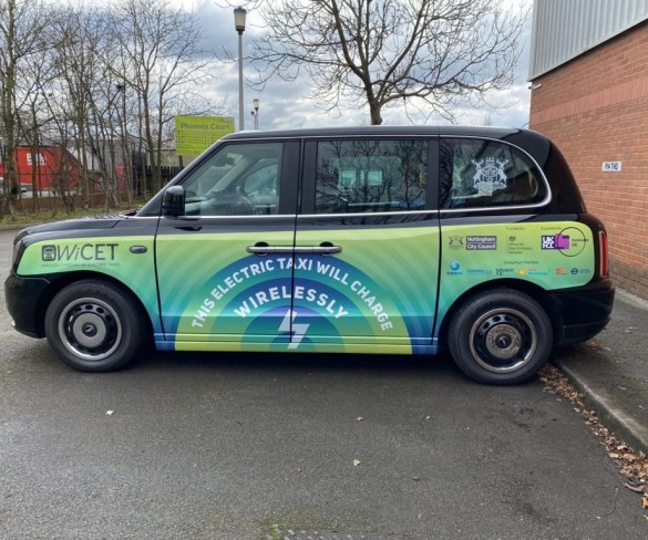 Wireless taxi charging trial gets off the ground in Nottingham