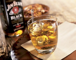 Jim Beam Black Bourbon and Water