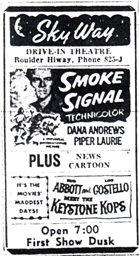 1955 Ad. These movies may have been playing when Bond was there.