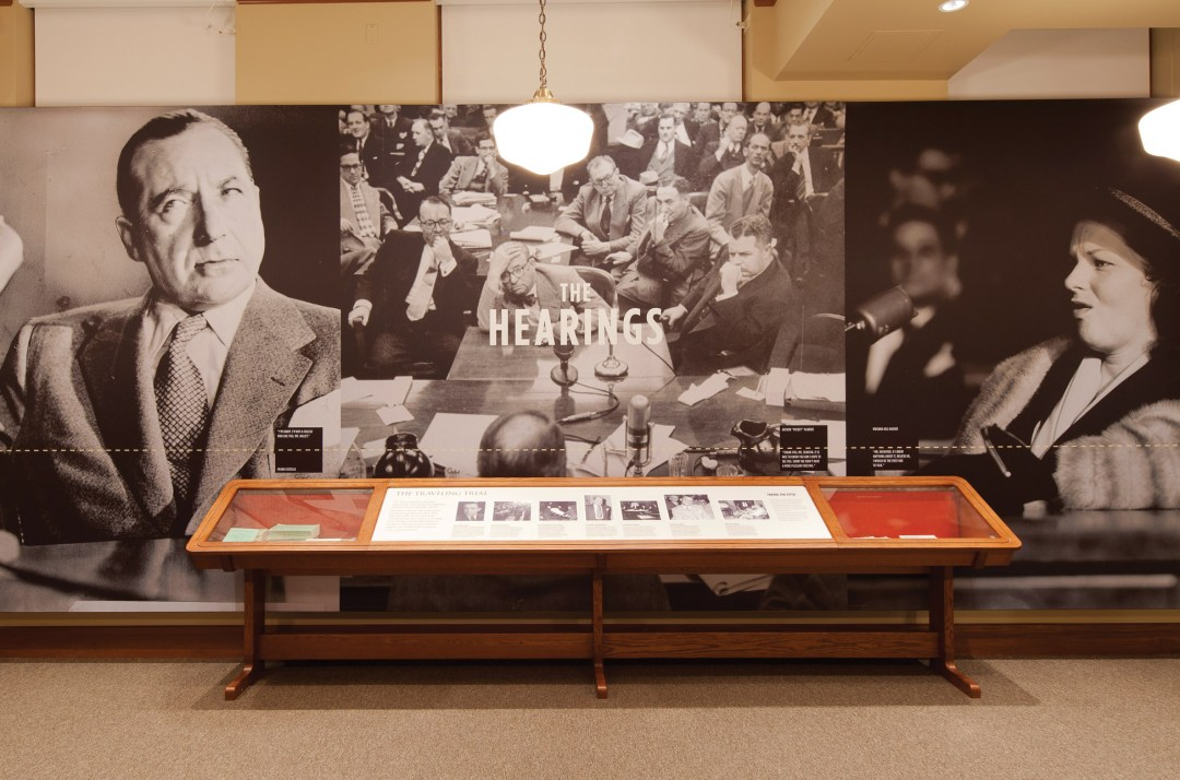 Mob Museum Exhibit On The Kefauver Hearings