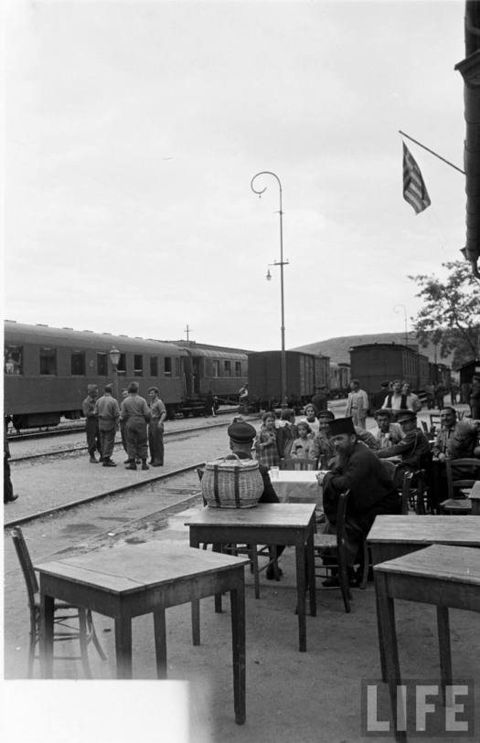 Pythion Station in 1950, as photographed by Jack Birns.