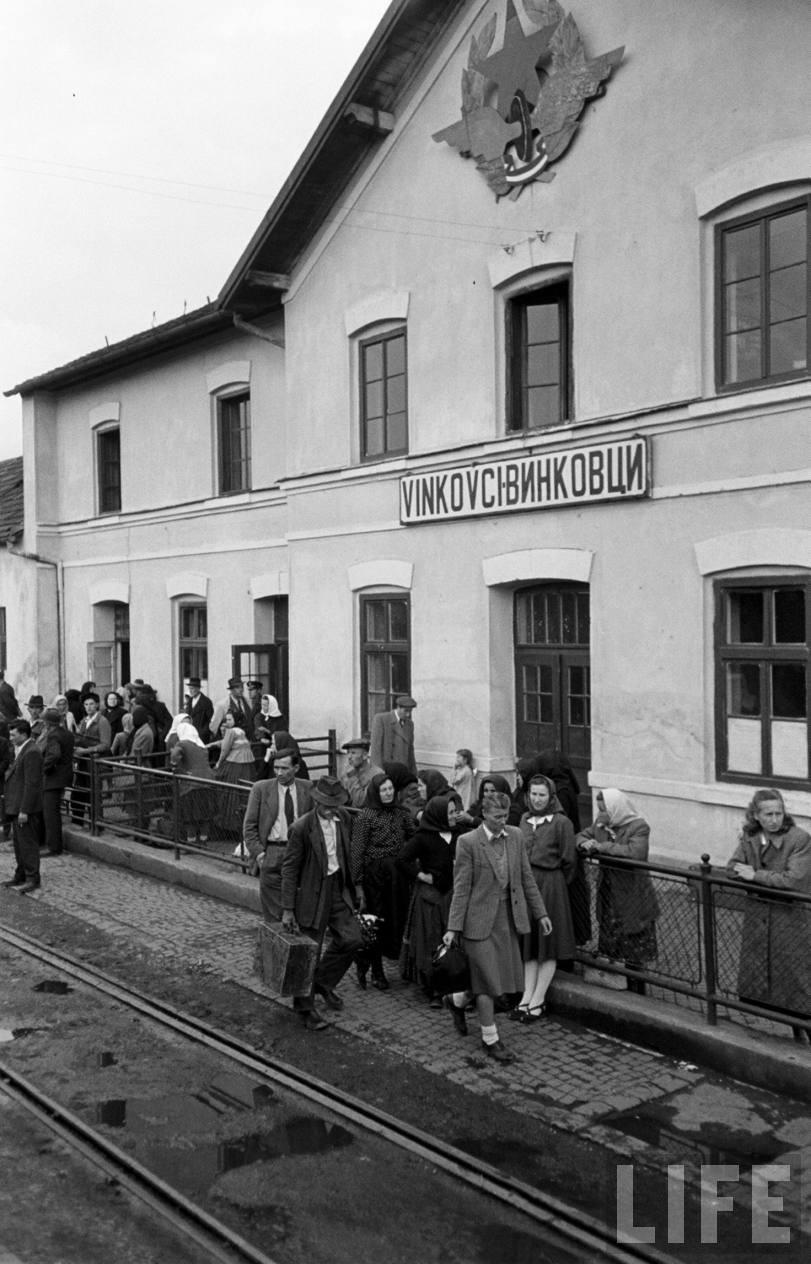 Vinkovci Railway Station, 1950.