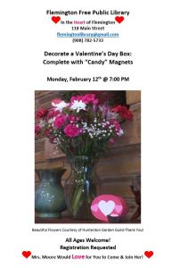 Monday Valentine S Day Craft Night Feb 12th At 7 Pm Flemington