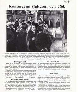 1907 konungens död Carl Flensburg