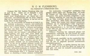 Nils Olof Mathias Flensburg 50 års artikel