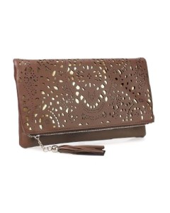 B.M.C Perforated gold accent pouch