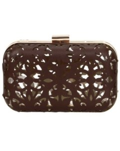 B.M.C Cut Out Faux Leather Clutch