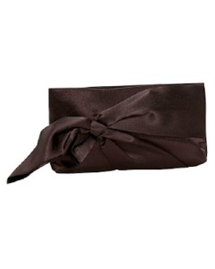 J Furmani Bow Wristlet in Chocolate Brown