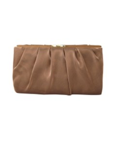 Nina Larry Clutch (Bronze Metal Satin)