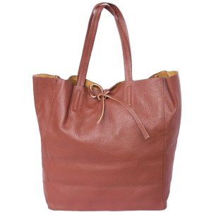 Florence Leather Market Tote Shopping Bag