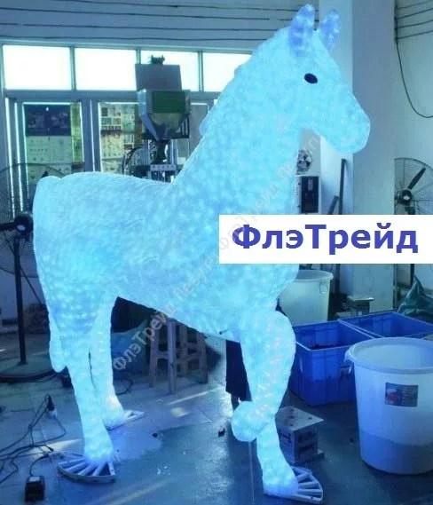 Фото акриловой светодиодной фигуры лошади 3 D,Cветовое ...