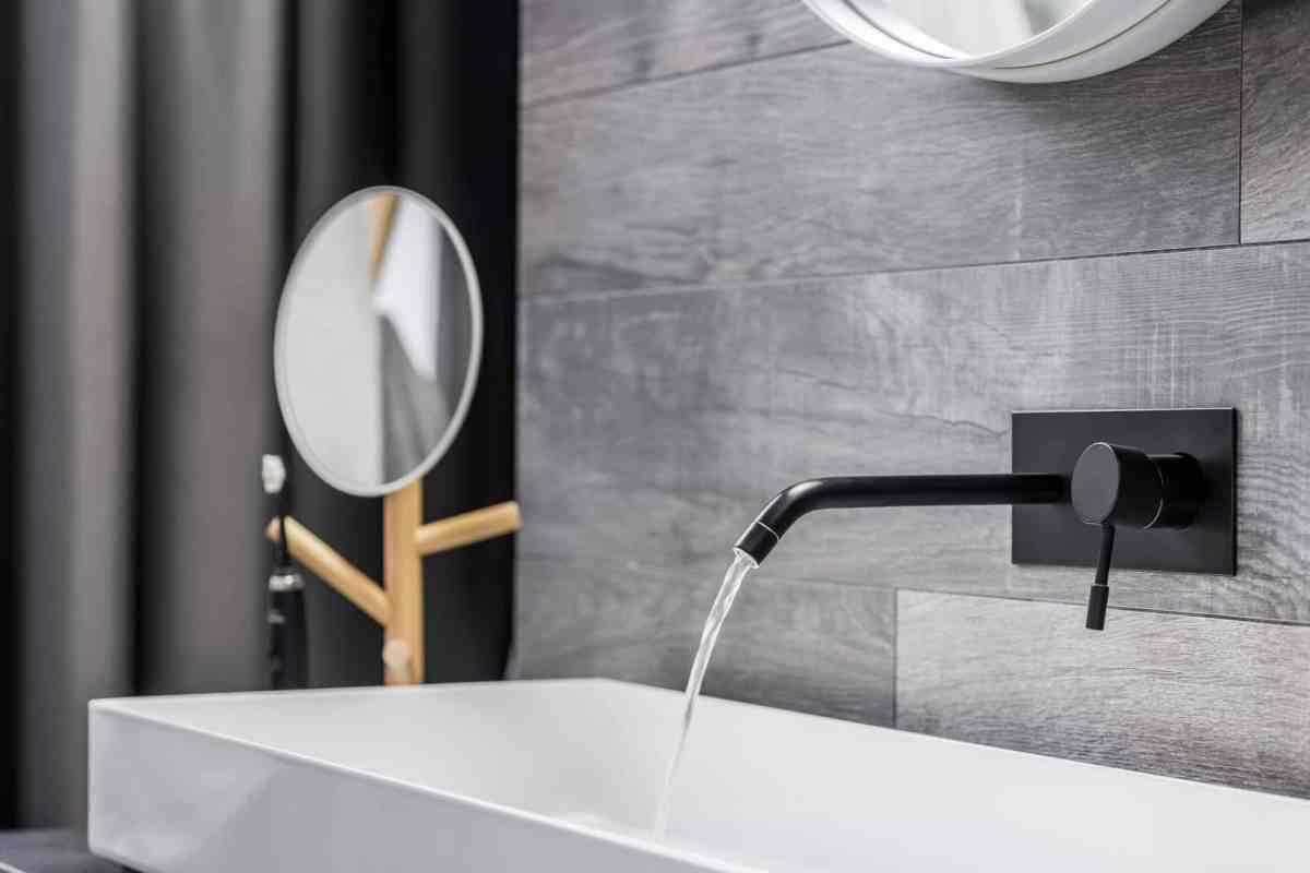 modern water faucet