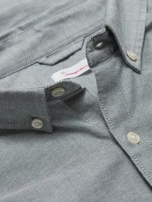 chemise knowledge grise coton bio