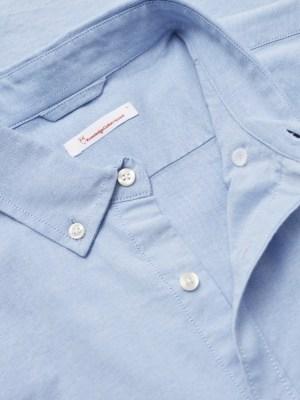 chemise knowledge bleu clair coton bio