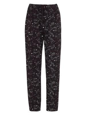 Pantalon de pyjama noir motif galaxie Coton bio