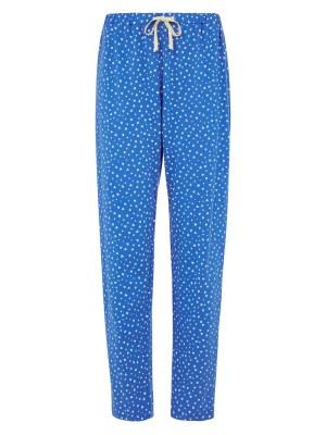 pantalon pyjama bleu coeurs coton bio
