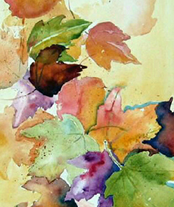 October 22: Leaf Watercolor Card