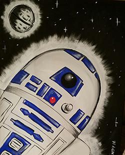 November 12: Children's Paint Party (R2-D2)