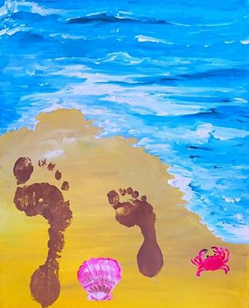 June 24: Footprints in the Sand (Children's Class)
