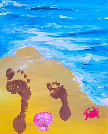 June 24: Footprints in the Sand (Children's Class)