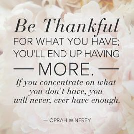 Be thankful for what you have and you already are while you are working towards your best life
