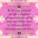 Gratitude brings blessings