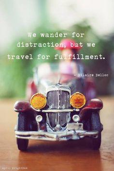 Travel for fullfilment