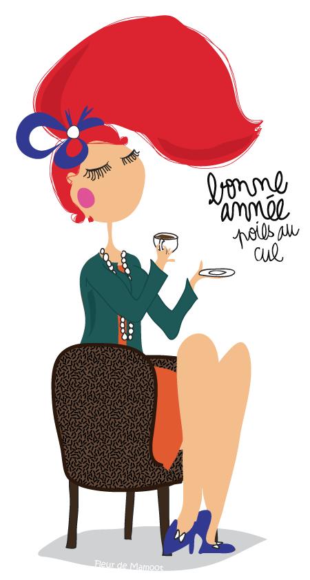 Bonne Annee Fleur De Mamoot