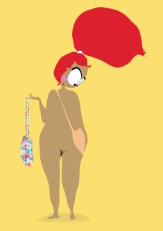 affiche vacances naturistes dessin humour cul nul