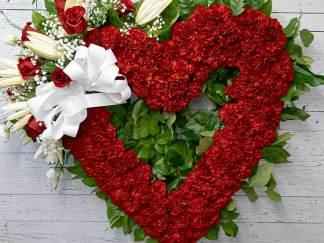 Coeur ouvert rouge - Fleuriste Coin Vert | Montréal