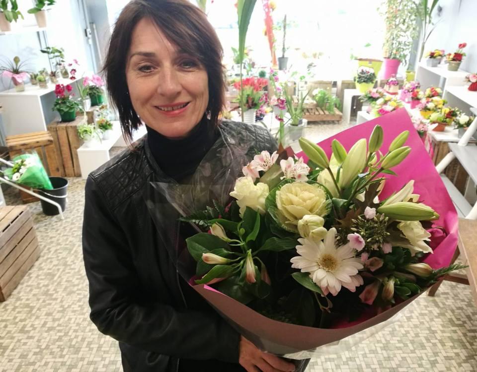 Patricia, gagnante du jeu Youpi Fleurs, tirage du mercredi 05 octobre