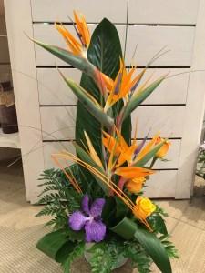 composition par julie pour AUX MILLE PETALES fleuriste à Offranville
