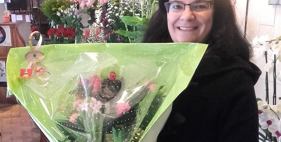 Sandrine, gagne le bouquet Youpi Fleurs
