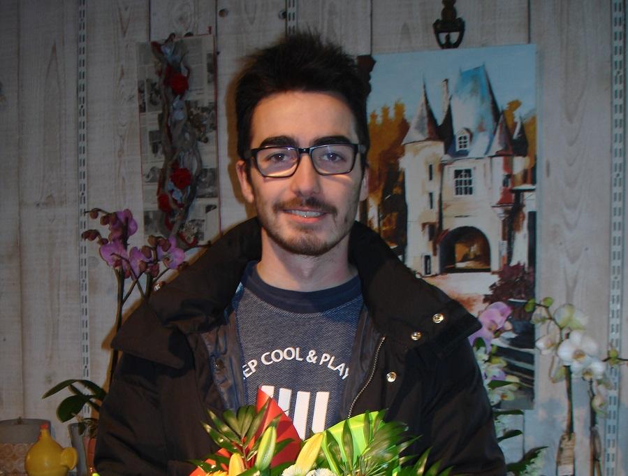 Kilian, gagnant du jeu Youpi Fleurs, tirage spécial noël du mercredi 21 décembre 2016
