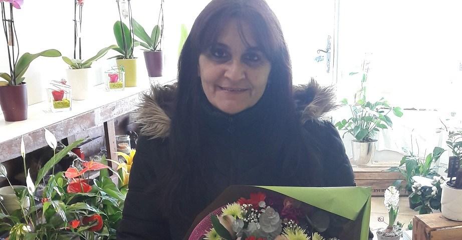 Valérie, gagnante du jeu Youpi Fleurs, tirage du mercredi 18 janvier 2017