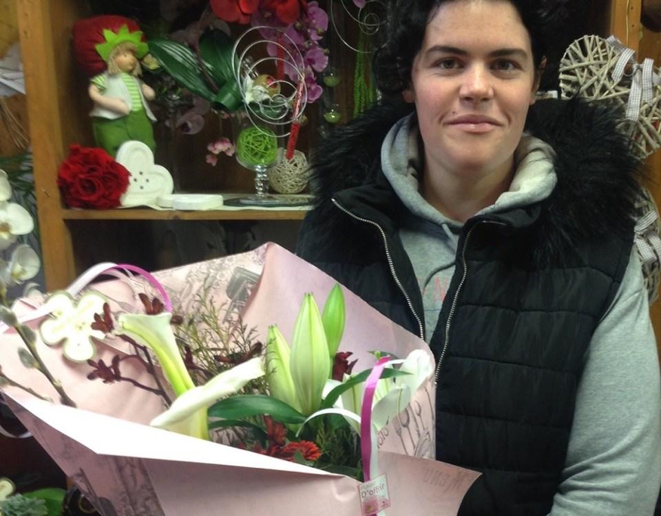Marjorie, gagnante du jeu Youpi Fleurs, tirage du mercredi 15 mars 2017