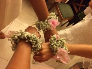 bracelet floral pour mariage
