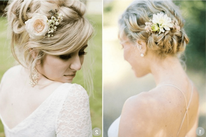 décor floral pour cheveux