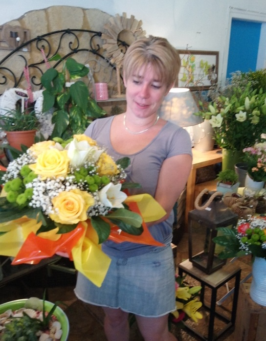 Laure, gagnante du jeu Youpi Fleurs