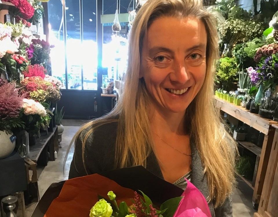 Martine, gagnante du jeu Youpi Fleurs