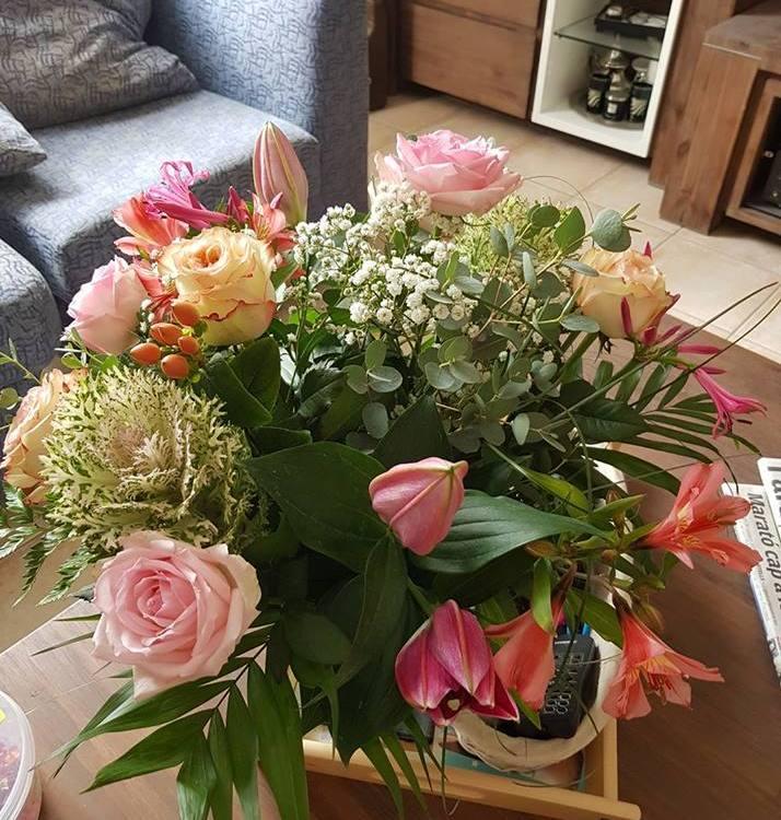 Bouquet de fleurs réalisé par Sophie, artisan fleuriste à Perpignan (66000)