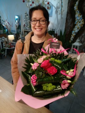 Vanessa, gagnante du jeu youpi fleurs