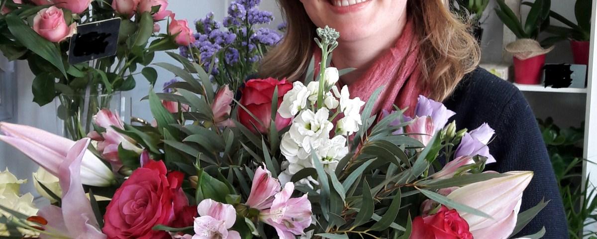 """Votre artisan fleuriste à Egly (91520), Laureline pour """"Au Jardin d'Egly"""""""