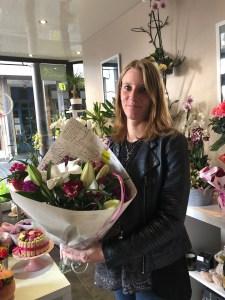 Aurore, gagnante du jeu youpi fleurs