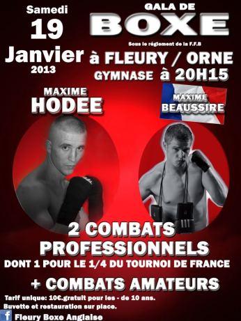 Gala de Boxe le samedi 19 janvier 2013