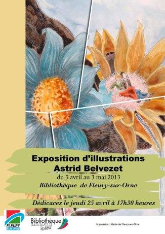 Exposition d'illustrations d'Astrid Belvezet
